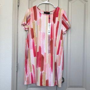 NWT minkpink multi color short sleeve dress